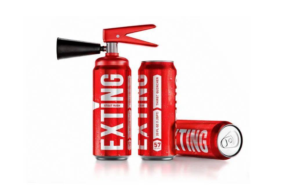 EXTING能量饮料,图片来源:createid