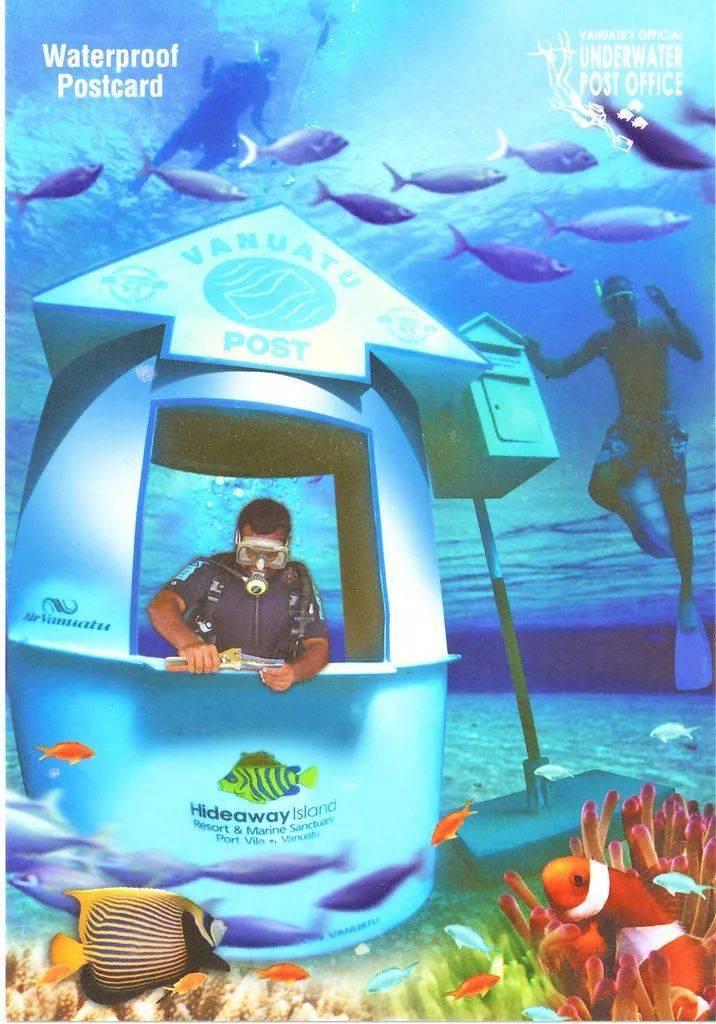 △瓦努阿图水下邮局。/flickr