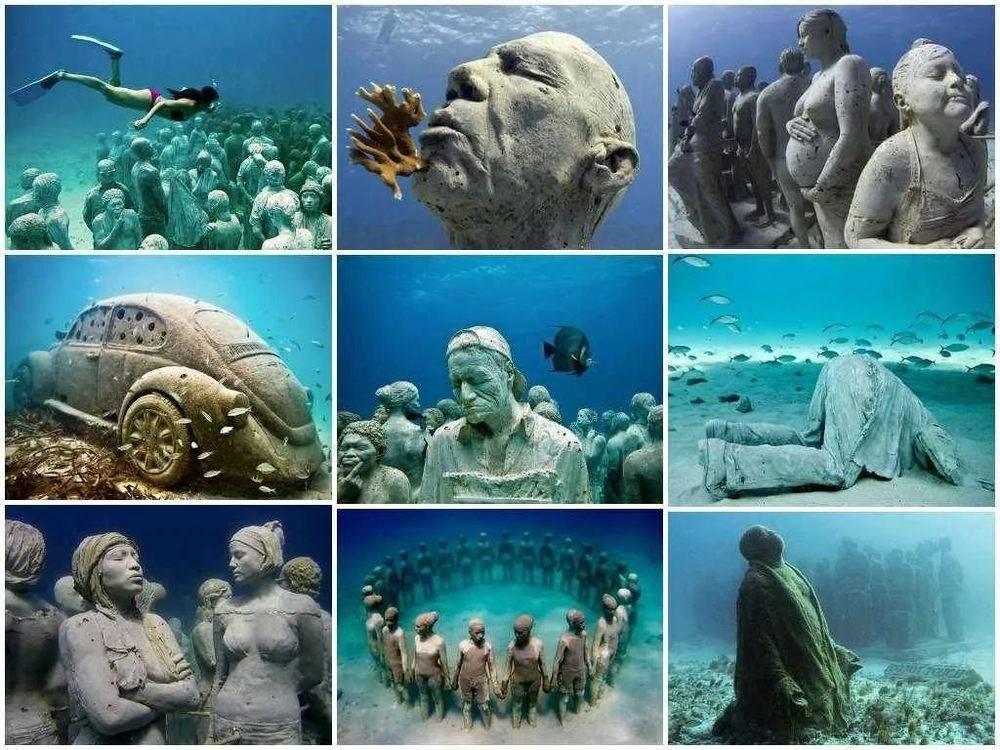△墨西哥坎昆水下博物馆一看就很有趣/Twitter