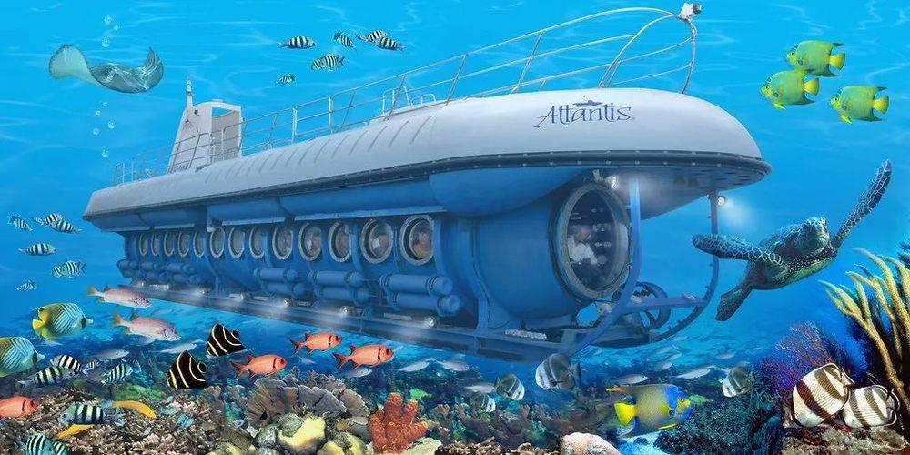 △亚特兰蒂斯潜水艇整体示意图。/flickr