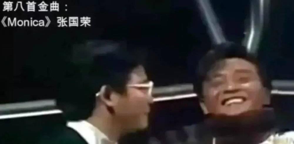 拿奖时,张国荣高兴坏了<br>