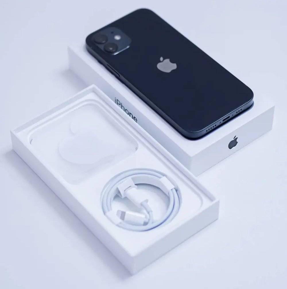 ▲iPhone 12 包装中的说明书已经很轻薄了<br label=图片备注 class=text-img-note>