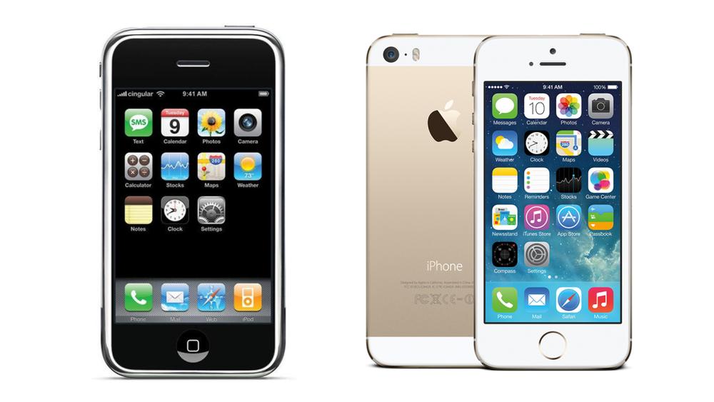 ▲左为拟物化设计,右为扁平化设计