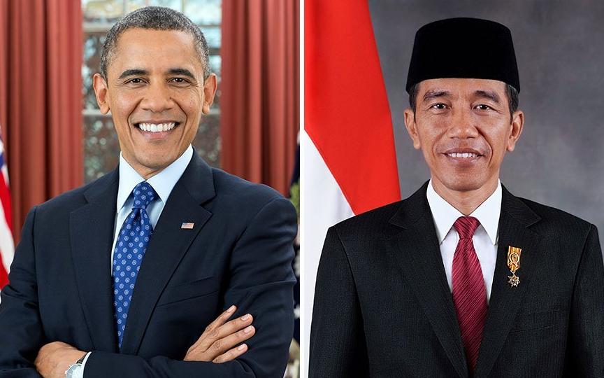 酷似奥巴马的印尼现任总统佐科<br>