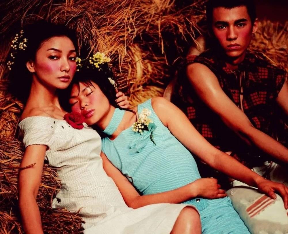 模特时期的春晓 摄影师冯海作品<br>