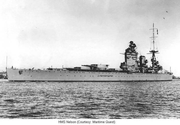 英国纳尔逊级战列舰<br>
